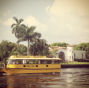 The Water Taxi on the New River at Las Olas Boulevard
