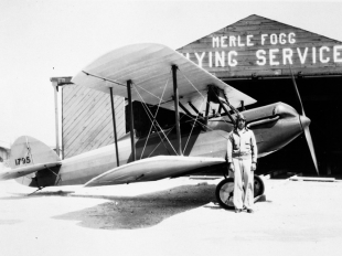 Merle Fogg's flying service on Las Olas Boulevard