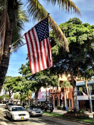 Stars and Stripes on Las Olas Boulevard