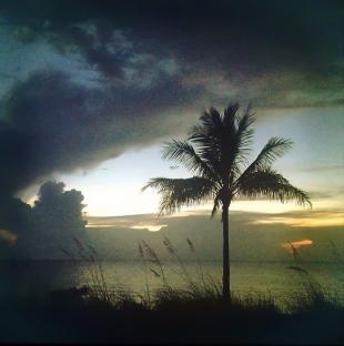 Storm clouds on Las Olas beach