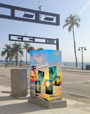 Proposed utility box wrap for Fort Lauderdale beach