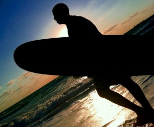 Surfer looking for waves.